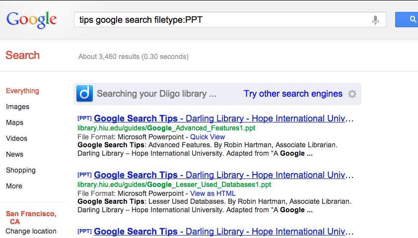 GOOGLE SEARCH TIPS FILE TYPE EBOOK