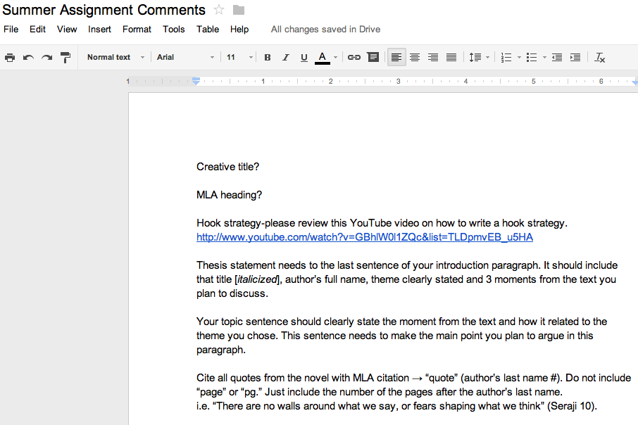 google docs grading tips tricks