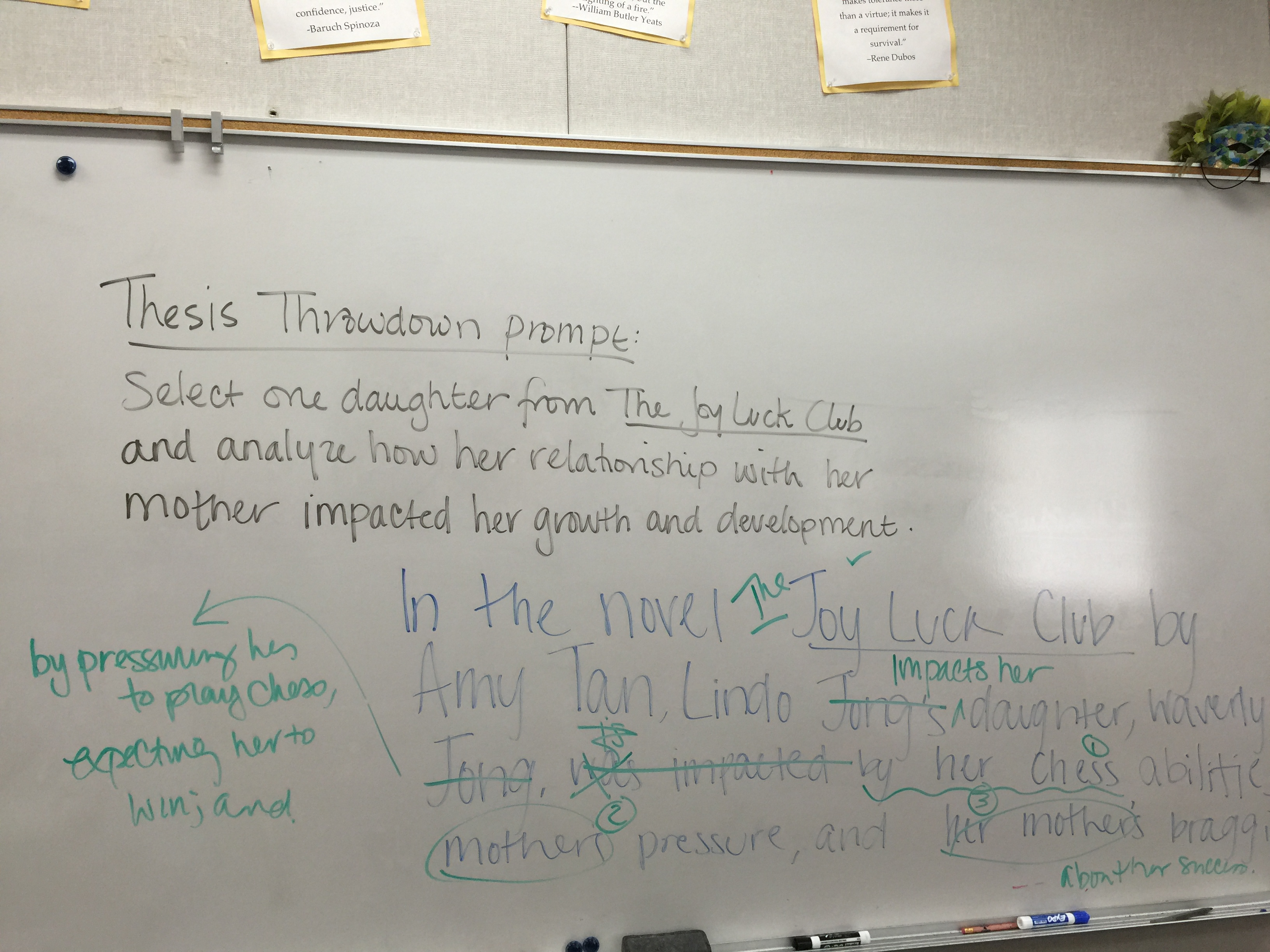 thesis statement throwdown