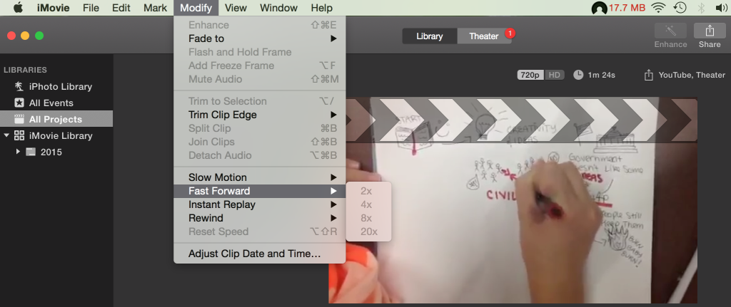 how to upload a video from imovie to google drive