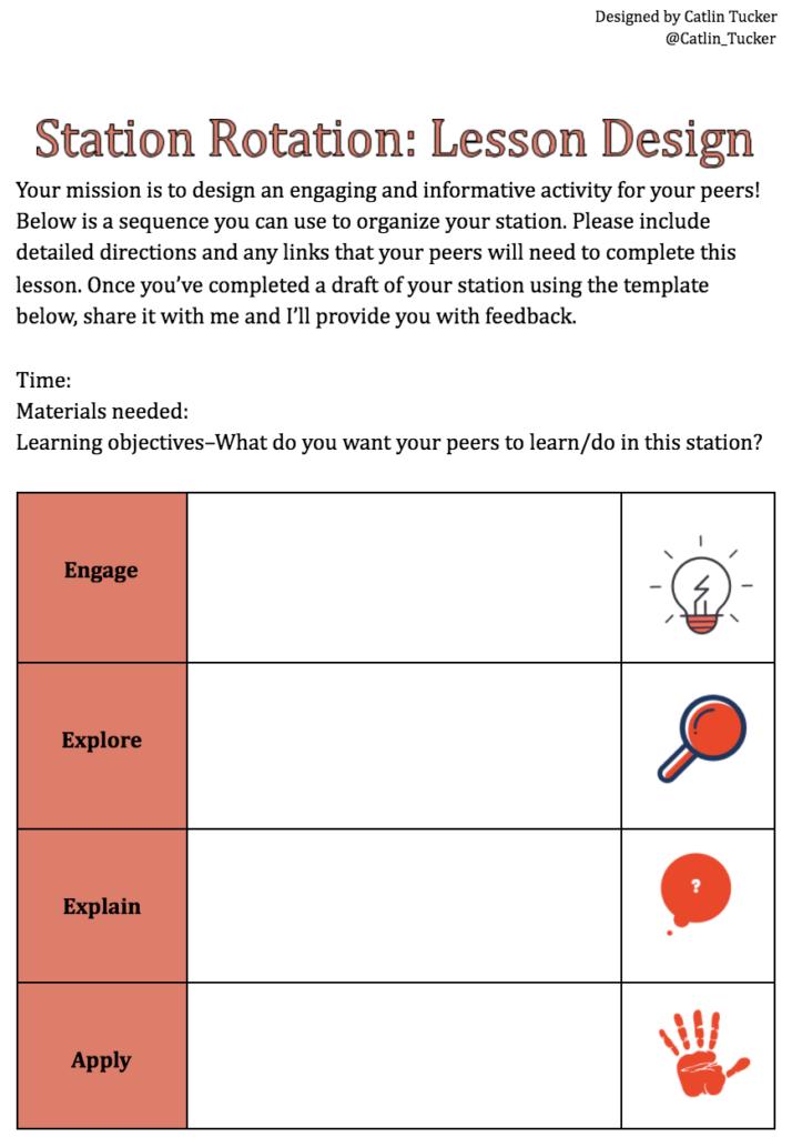 Station Rotation Model: Student Designed & Led Stations