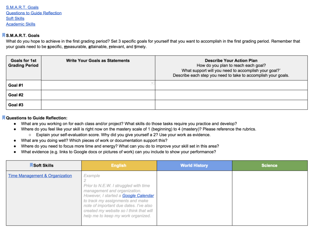 Ongoing Self-Assessments: Students Reflect On and Document